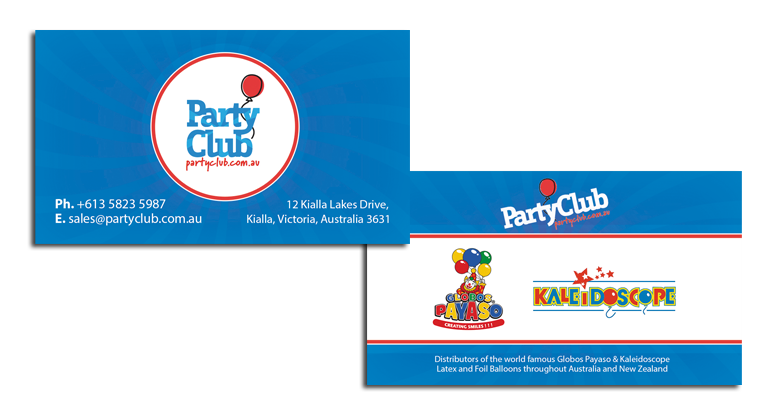 Party Club Business Cards